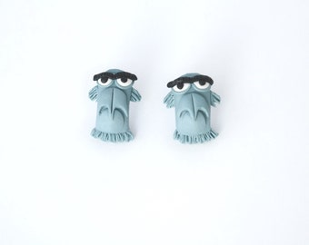 Sam the eagle - Muppets characters - new handmade lightweight earrings