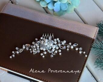 Bridal comb, Wedding Accessories, Wedding hair comb, Decorative Combs, Wedding hair comb, Pearl hair comb, hair jewelry, Comb, Wedding comb