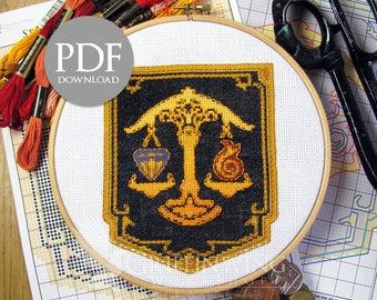 Ul'dah Flag Cross Stitch Pattern (PDF Download)