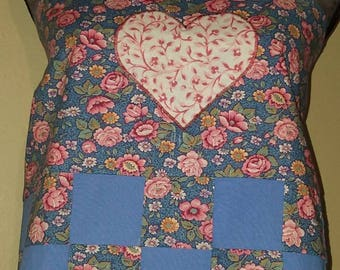 Heart Patchwork Apron Style Shirt