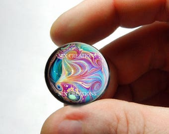 Glass Cabochon - Marble Design 2  - for Jewelry and Pendant Making