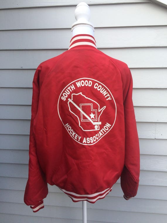 Vintage 70's/80's Wisconsin Hockey bomber jacket