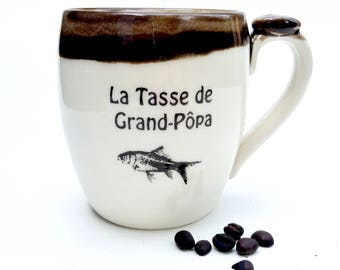 La tasse de Grand-Pôpa and La tasse de grand-môman   (price for the pair)
