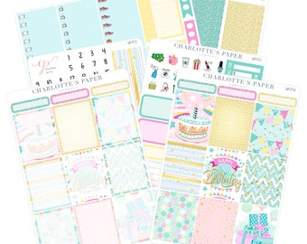 Planner Sticker Kits / Birthday Planner Stickers / Planner Stickers / Erin Condren Planner Stickers / Weekly Sticker Kit / WK70