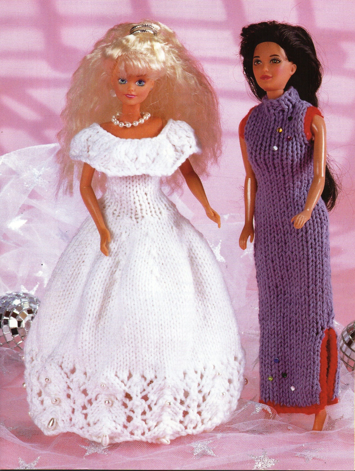 Teenage Doll Knitting Pattern pdf download Barbie Ball Gown Chinese ...
