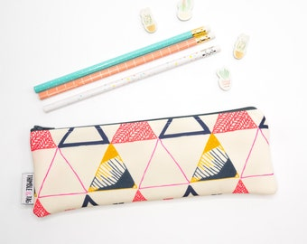 Cute Pencil Case, Christmas Gift Ideas for Her, Cute Pencil Pouch, Pencil Bag, Makeup Brush Bag, College Student Gift Under 20