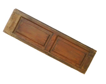 "Antique Wooden Shutter, Farmhouse Style, Window Shutter, Architectural Salvage, Raised Panel Shutter, 28 3/8"" x 8 3/8"""