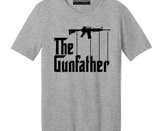 ON SALE - The Gunfather Funny Father's Day - Men's V-neck