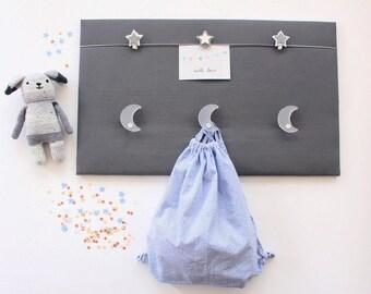 Joli Porte-manteaux pêle-mêle photos Moon