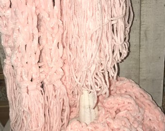 Pink Chenille Scarf