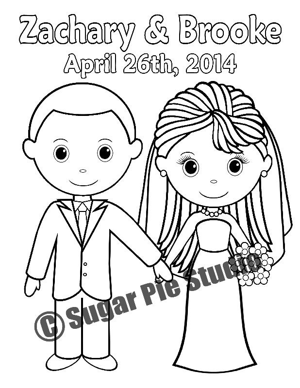 It's just a graphic of Peaceful Personalized Wedding Coloring Book