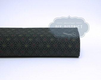 Japanese traditional Asanoha black fabric.