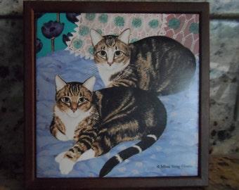 Vintage Avon Tabby Cat Trivet/Tile