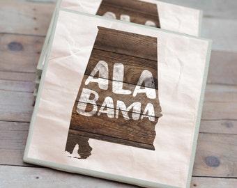 Alabama Coasters / Farmhouse Coasters / Tile Coasters / Alabama Home / Alabama / Alabama Decor / Farmhouse Decor / Alabama Gifts / Farmhouse