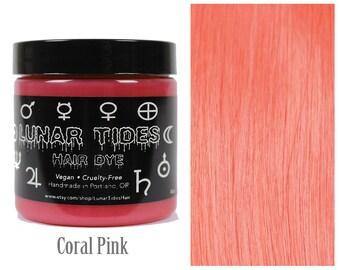 Pastel Coral Hair Dye