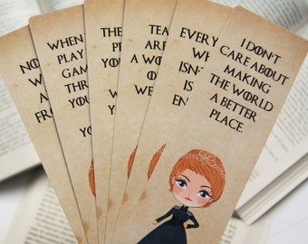 Cersei Lannister paper bookmark | Queen of the seven kingdoms | Game of Thrones