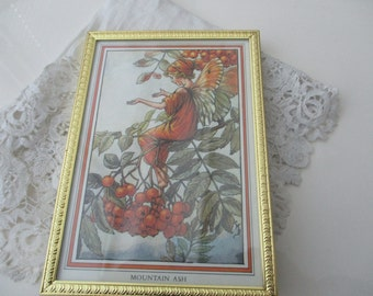 Vintage fairy picture in frame
