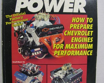 1994 Cevrolet power official factory performance guide 189 pages pages excellent slighest wear to cover.Everything  Chevrolet performance!!!
