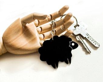 Black Sheep Keychain,Plexiglass Accessories,Lasercut Acrylic.Gifts Under 25