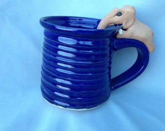 Elephant mug dark blue