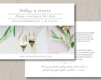 Wedding Planner Marketing Flyer Template - Event Coordinator Templates - Photo Marketing Templates
