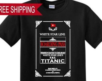 Titanic Boarding Pass T Shirt