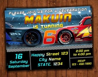 cars 3 invitation birthday Disney cars 3 birthday invitation