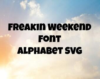 Font SVG For Cutting Machine, Bold Font SVG, Thick Font SVG