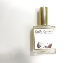 Exotic Coconut Hair Perfume - Hair Mist, Argan Hair Gloss or Argan Hair Milk - with Silk Protein, Horsetail Extract 2 oz