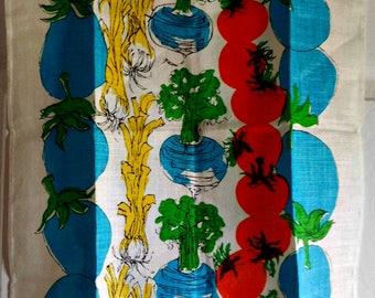 Vintage Colorful Vegetables Kitchen Towel