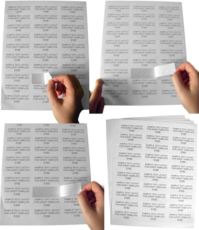 100 Sheets 3000 Labels Same Size As 5160 30 Up Address Labels