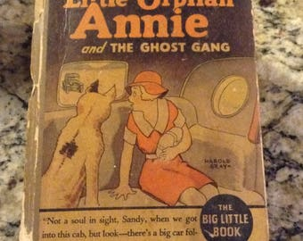 Little Orphan Annie and the Ghost Gang Vintage Book