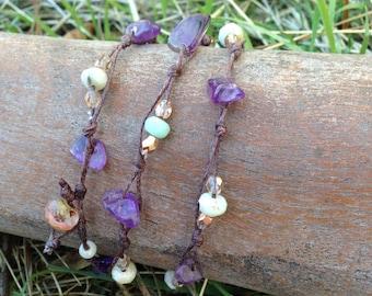 Boho Purple Love Necklace/Wrap