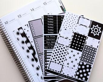 Starburst BW Main Kit - Collection - Planner Stickers - Erin Condren - No White Space Planning
