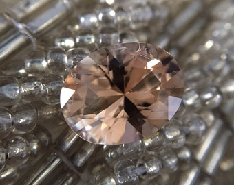 2.57ct Golden Brown Untreated Precision cut, Texas Topaz Oval
