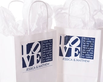 Wedding Welcome Bags - 40 Out of Town Welcome Bags - Hotel Wedding Bags - Personalized Wedding Favor Bags