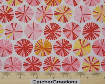FLANNEL, Riley Blake Fancy Free Pinwheels Pink, Lori Whitlock,  Coordinate Fancy Free Bike Collection, Cotton Flannel, by the Yard, F4062