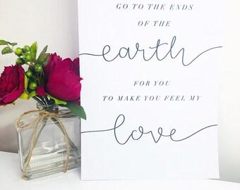 Adele, Make You Feel My Love Print A4 - Unframed