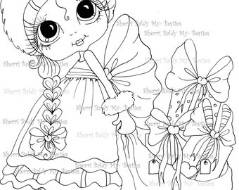 INSTANT DOWNLOAD Digital Digi Stamps Big Eye Big Head Dolls Digi  My Besties IMG028 By Sherri Baldy