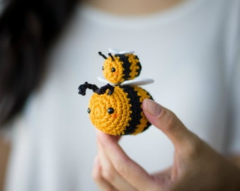 Amigurumi Bees Crochet Pattern: Bumble & Queen Bee