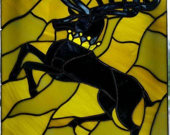 House Baratheon Stained Glass Piece