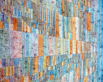 WASHABLE rigid ORIGINAL PLACEMAT - Paul Klee - main and secondary roads.