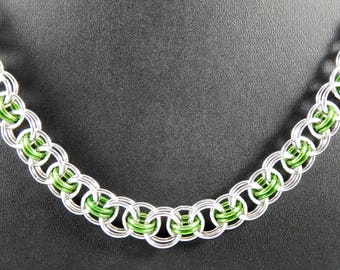 Helm Chain Necklace, Chainmaille Jewelry, Handmade Necklace, Choker, St. Patrick's Day