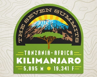 Mt. Kilimanjaro Seven Summits Decal Sticker