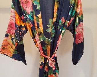bridesmaid gifts, bridesmaid gift, bridesmaid robes, bridesmaid robe, floral robe, floral bridesmaid robes, bridal party robes, wedding robe
