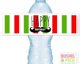 Pizza #Party Bottle #Labels