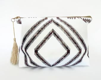 Gifts for her, Canvas Wash bag,Boho, gypsy, bohemian, cosmetic bag, zip bag, make up bag.