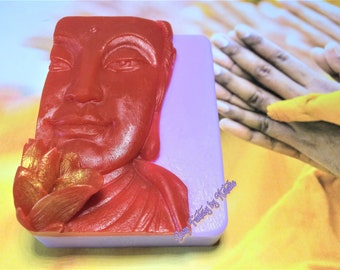 Buddha Soap-Buddha with Lotus Soap-Spiritual Soap-Bindi-Gift for Her-Gift For Him