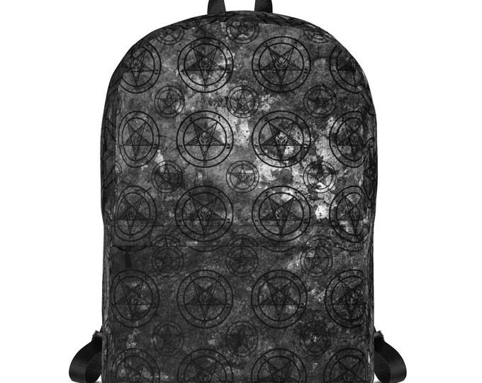 Grey Pentagram Splatter Backpack
