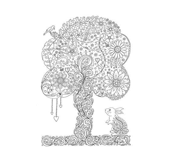 doodle tree 2 malseite für erwachsene ausmalbilder zum